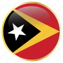 country, east, flags, timor icon