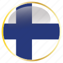 country, fineland, flags, place icon