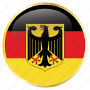 country, flags, germany icon