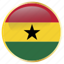 ghana, country, national, holiday, flags icon