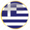 country, flags, greece icon
