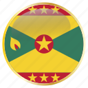country, famous, flag, flags, grenada, national, place icon
