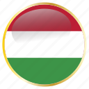 country, flags, hungary icon