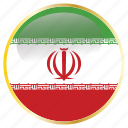 country, flags, holiday, iran icon