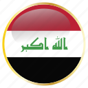 country, flags, iraq icon