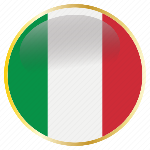 country, flags, italy icon