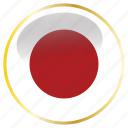 country, flags, japan icon