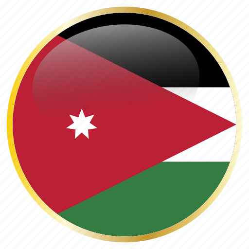 country, flags, jordan icon