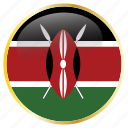 country, famous, flags, kenya, world icon