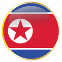 country, flags, korea, north icon
