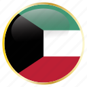 country, flags, kuwait, place icon