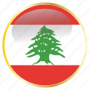 country, flags, lebanon, national icon