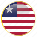 flags, liberia icon