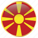 country, flag, flags, holida, macedonia, national icon