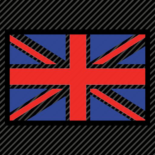 flag, flags, national, united kingdom, world icon