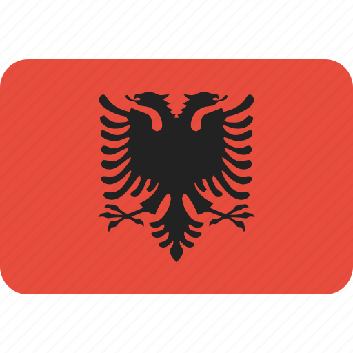 albania, country, flag, national icon