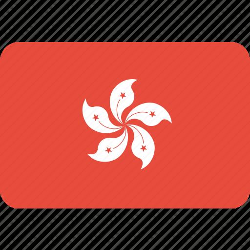 country, flag, hongkong, national icon
