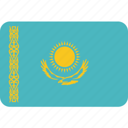 country, flag, kazakhstan, national icon