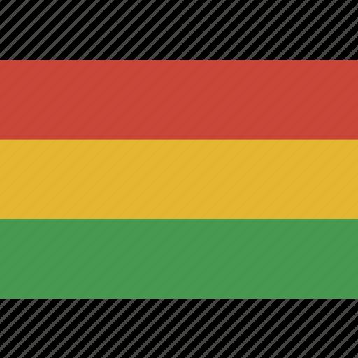 bolivia, flag, rectangle icon