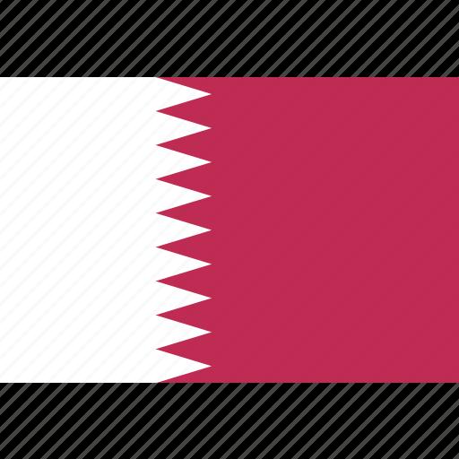 qatar, rectangle icon