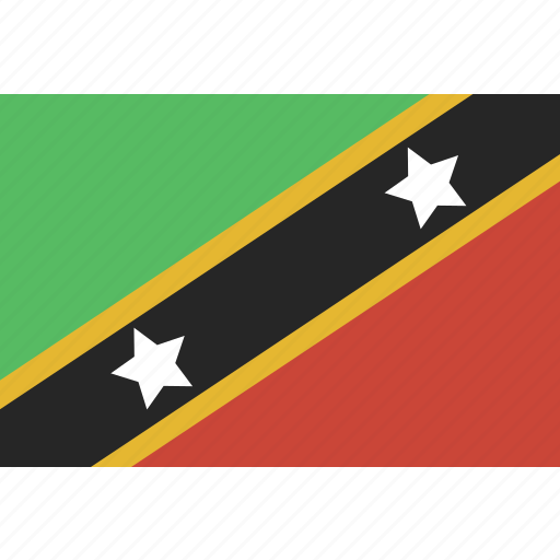 and, kitts, nevis, rectangle, saint icon
