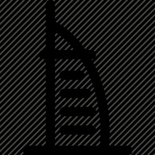 buurh al arab, dubai, emirates, hotel, luxury, tower, travel icon