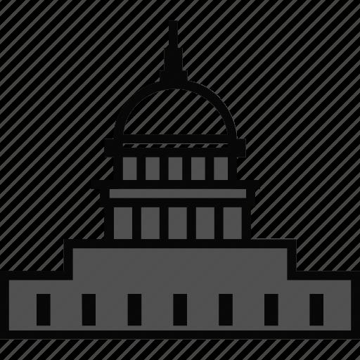 architecture, building, capitol, capitol building, landmark icon