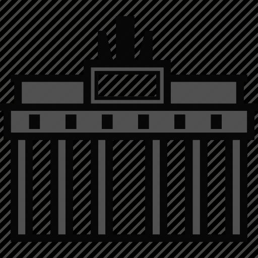 architecture, brandenburg, gate, landmark icon
