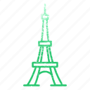 archaeological sites, famous, france, landmarks, paris icon