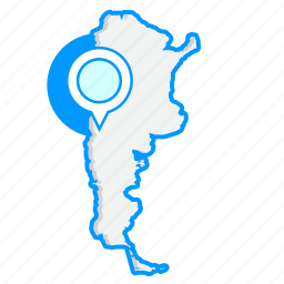 argentinamaps, country, map, world icon