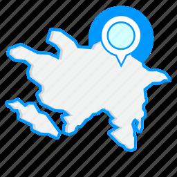 azerbaijanmaps, country, map, world icon