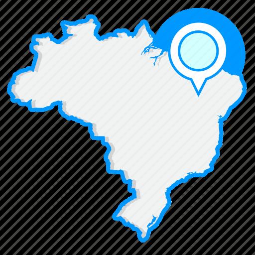 brazilmaps, country, map, world icon