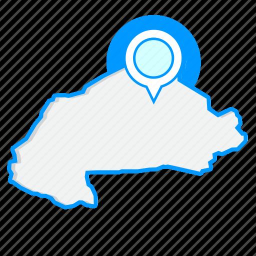 burkina, country, fasomaps, map, world icon
