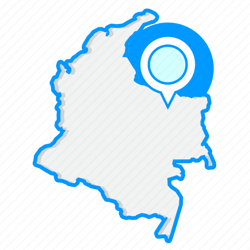 colombiamaps, country, map, world icon