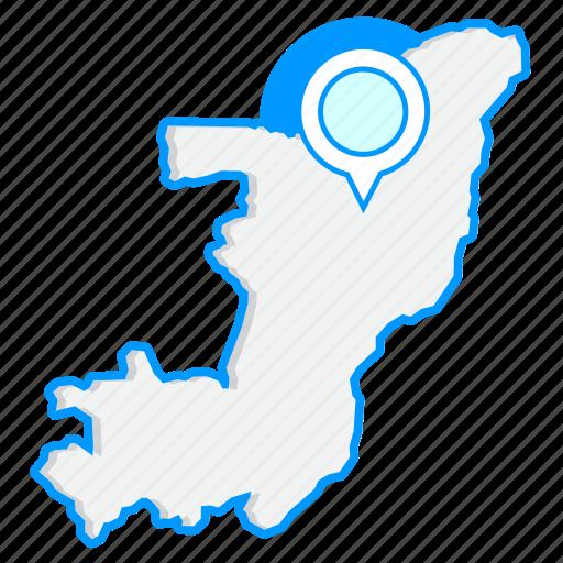 congomaps, country, map, world icon