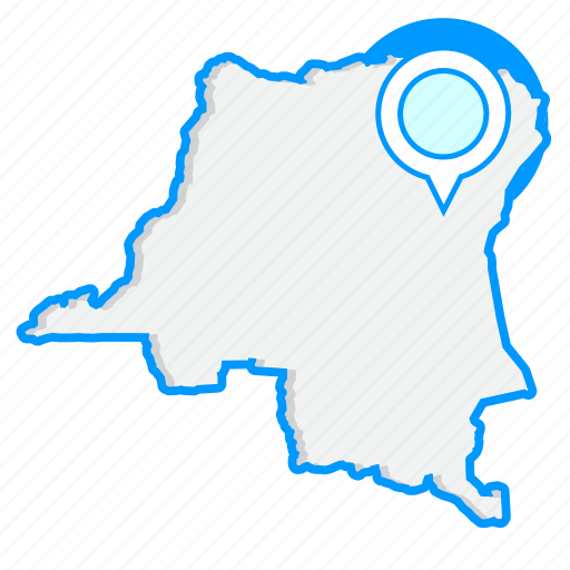 congomaps, democratic, map, of, republic, the, world icon