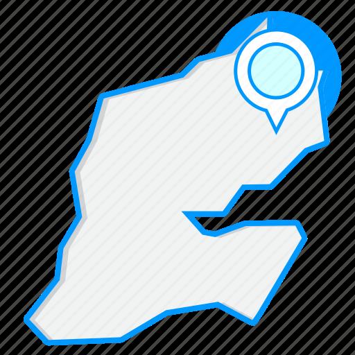 country, djiboutimaps, map, world icon