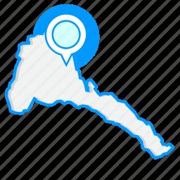 country, eritreamaps, map, world icon