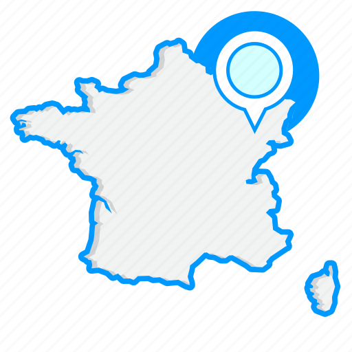 country, francemaps, map, world icon