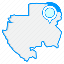 country, gabonmaps, map, world icon