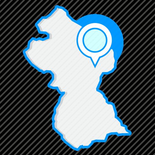 country, guyanamaps, map, world icon