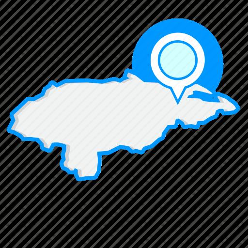 country, hondurasmaps, map, world icon
