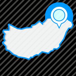 country, hungarymaps, map, world icon