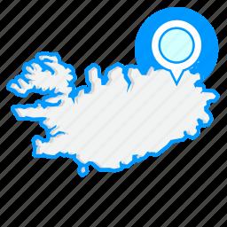 country, icelandmaps, map, world icon