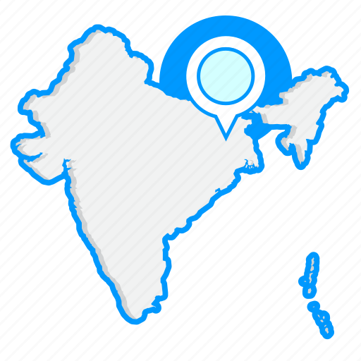 country, indiamaps, map, world icon