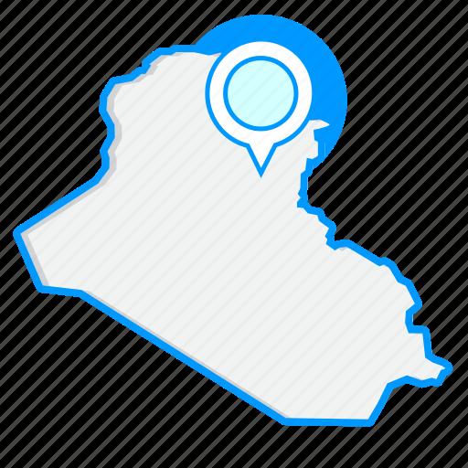 country, iraqmaps, map, world icon