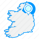 country, irelandmaps, map, world icon