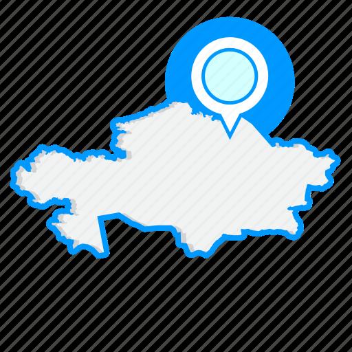 country, kazakhstanmaps, map, world icon