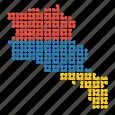 armenia, armenian, country, location, map icon