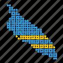 aruba, map, location, aruban, country